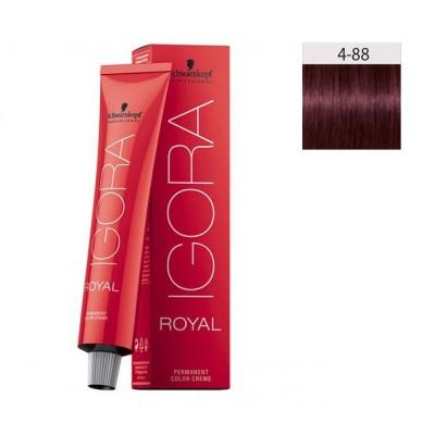 Schwarzkopf Igora Royal 60ml #4-88 Καστανό Μεσαίο Εντονο Κόκκινο