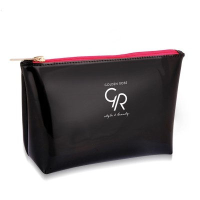 Golden Rose Black Make Up Bag