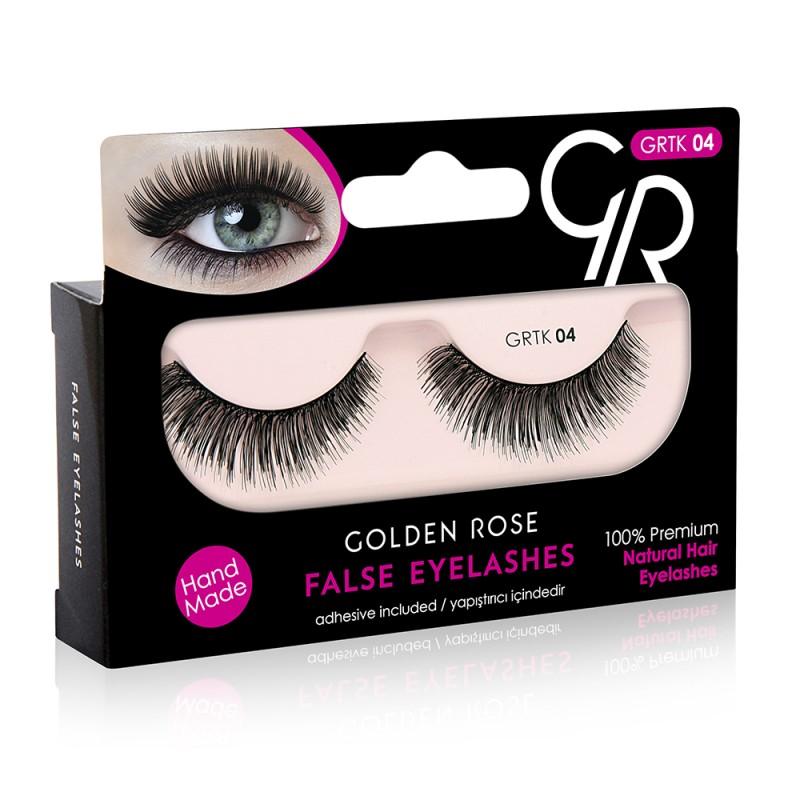 Golden Rose False Eyelashes (με φυσική τρίχα) #04
