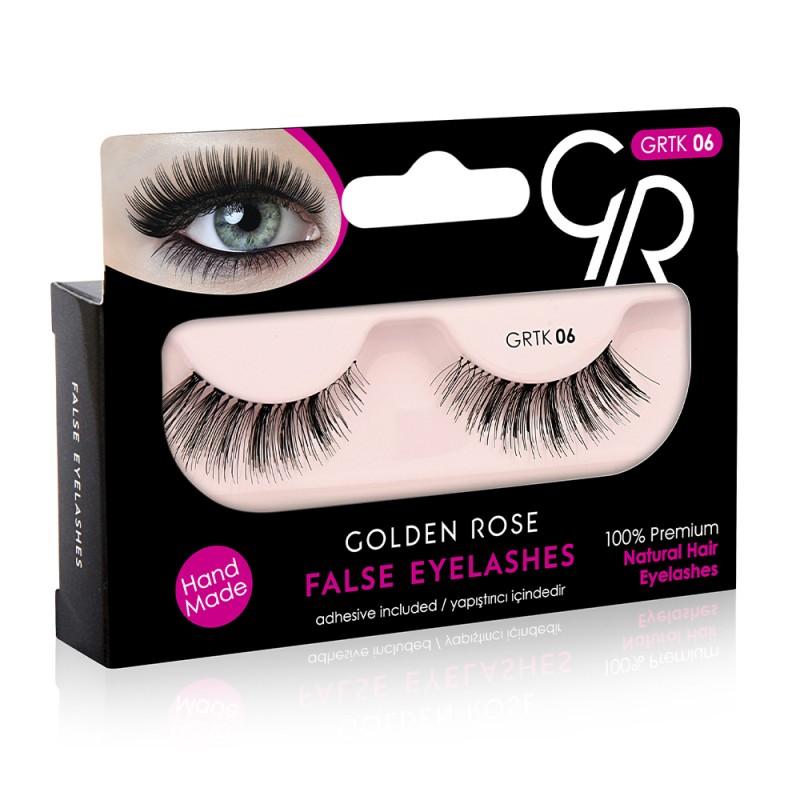 Golden Rose False Eyelashes (με φυσική τρίχα) #06