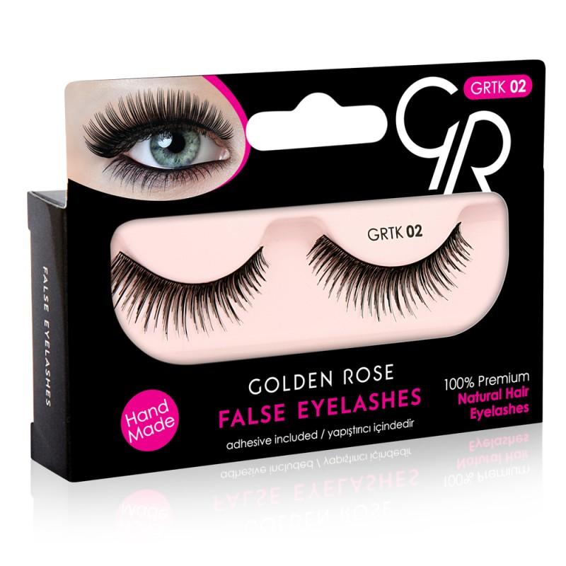 Golden Rose False Eyelashes (με φυσική τρίχα) #02