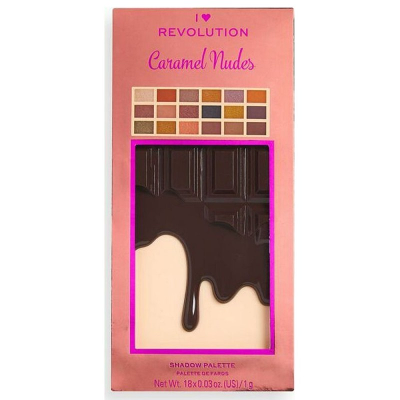 Revolution Chocolate Caramel Nudes Eyeshadow Palette