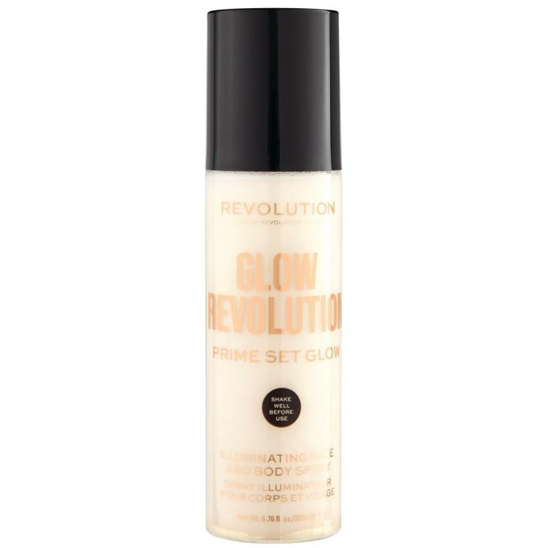 Revolution Beauty Glow Revolution Prime Set Glow Face & Body Spray 200ml