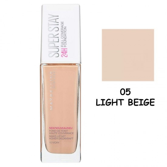 Maybelline Super Stay 24H Full Coverage Foundation 30ml #05 Light Beige