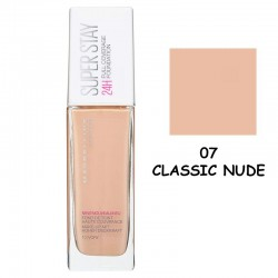 Maybelline Super Stay 24H Full Coverage Foundation 30ml #07 Classic Nude