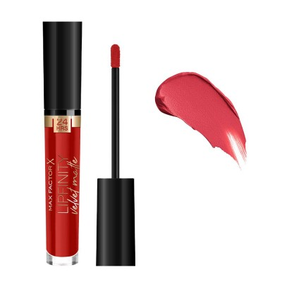 Max Factor Lipfinity Velvet Matte Liquid Lipstick 3.5ml #025 Red Luxury