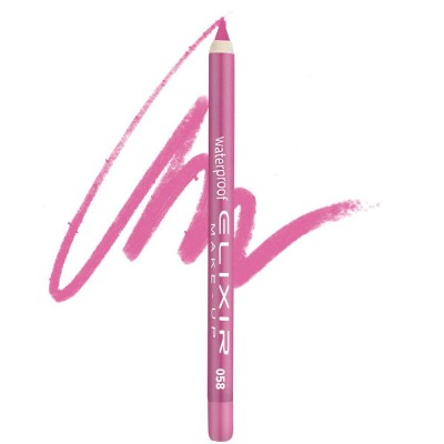Elixir Αδιάβροχο Μολύβι χειλιών – #058 (Hot Pink)