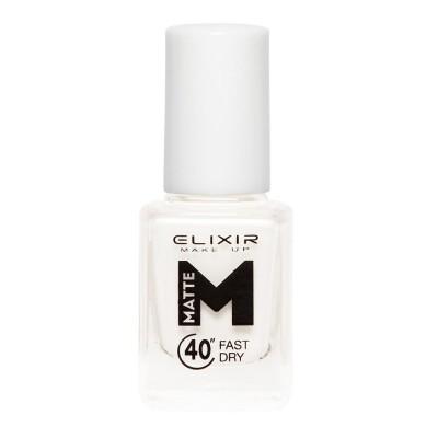 Elixir Βερνίκι Matte 40″ & Up to 8 Days 13ml– #M01 (White)
