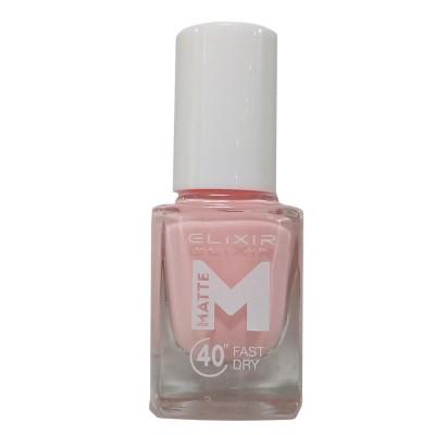 Elixir Βερνίκι Matte 40″ & Up to 8 Days 13ml – #M07 (Shell Pink)