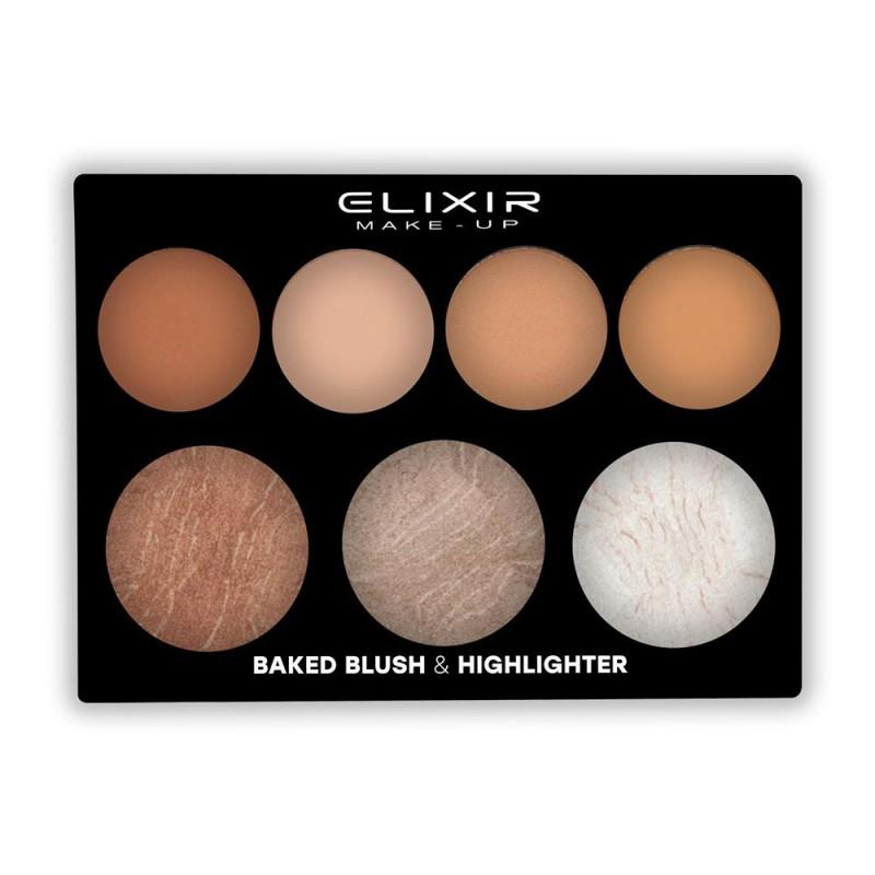 Elixir Παλέτα με Ψημένο Ρουζ και Highlighter #897